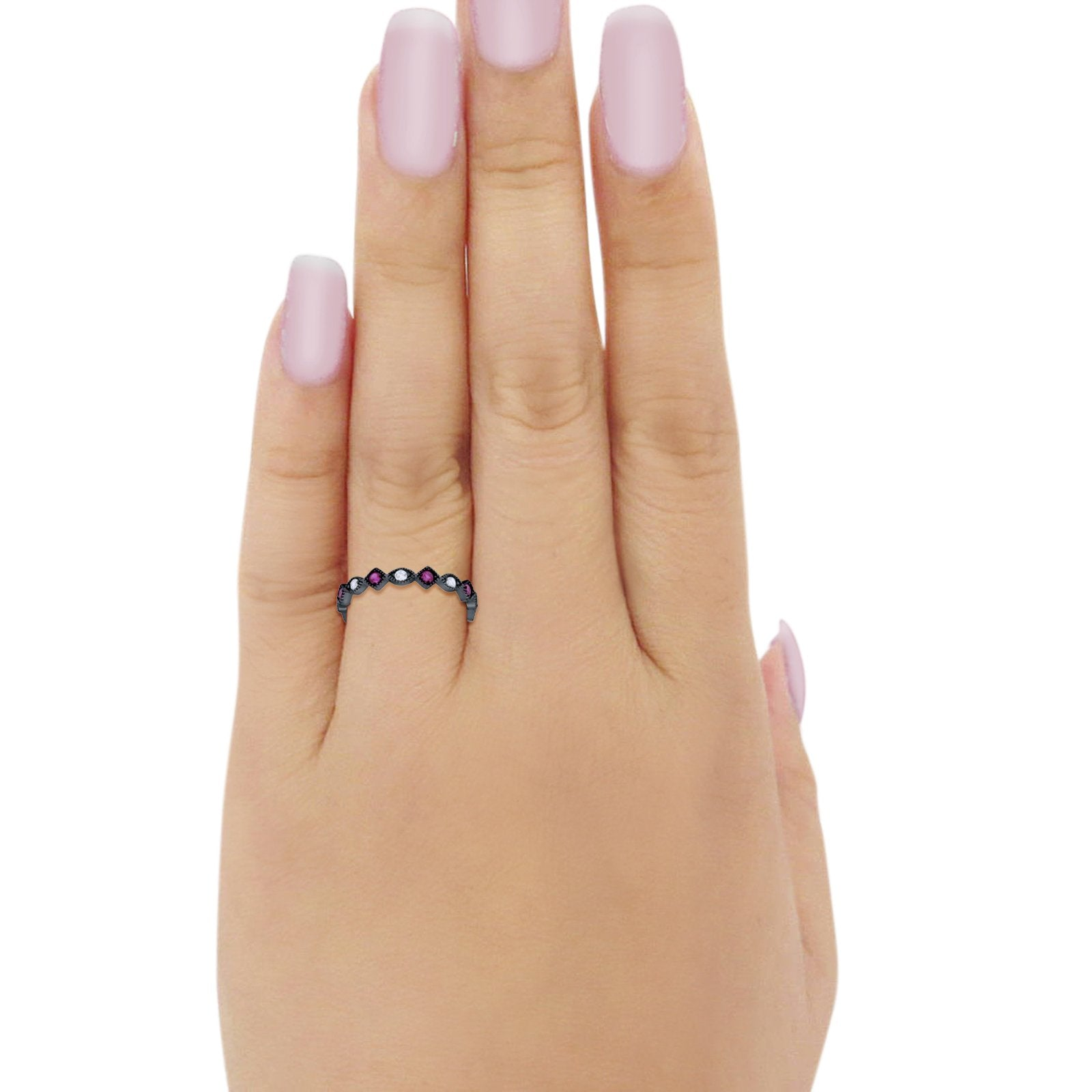 Full Eternity Wedding Band Ring 925 Sterling Silver