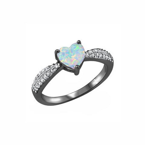 Heart Promise Ring 925 Sterling Silver Round CZ Choose Color