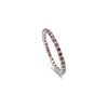Full Eternity Stackable Wedding Band Ring 925 Sterling Silver Choose Color