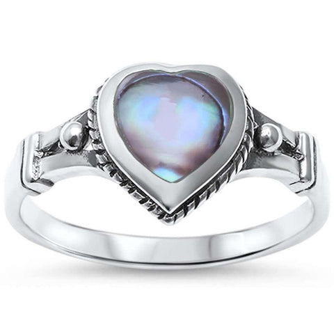 Celtic Design Heart Ring 925 Sterling Silver Choose Color Heart Promise Ring