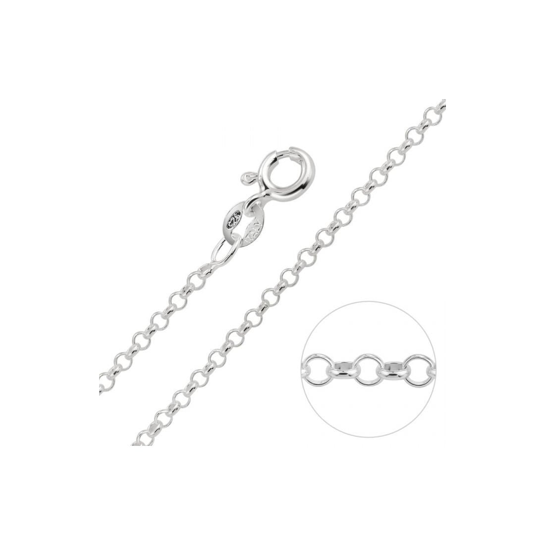 "1.4MM Rolo Chain .925 Solid Sterling Silver Available In ""16- 22"" Inches"