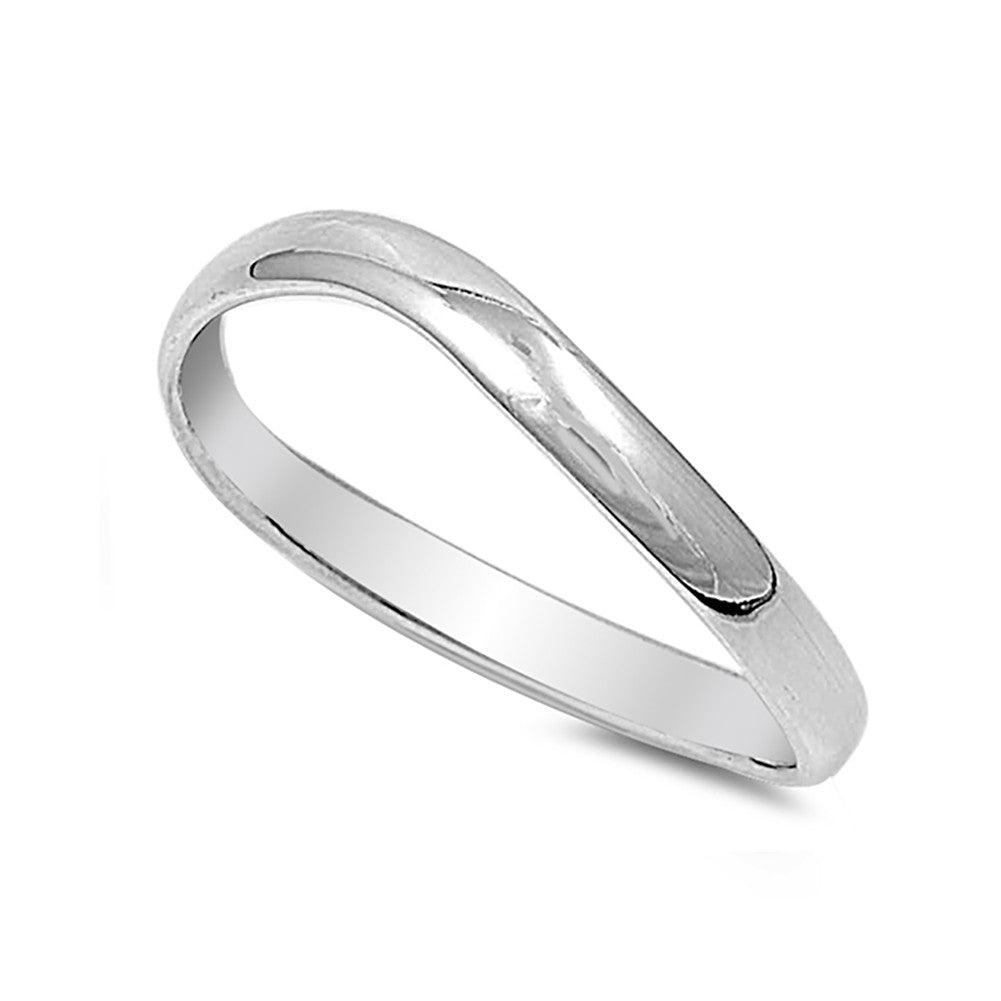 Thumb Ring Band 925 Sterling Silver Curve Band - Blue Apple Jewelry