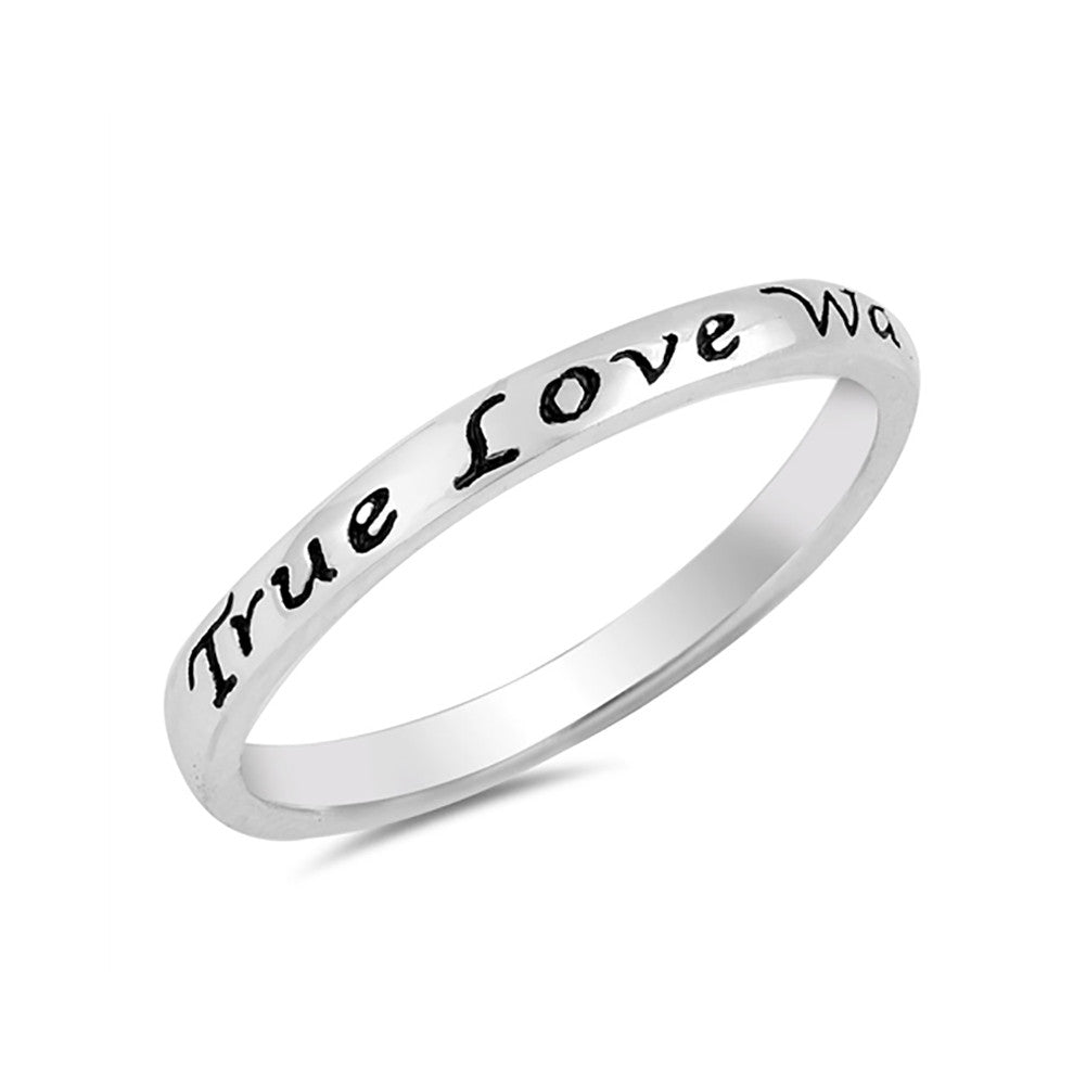 2mm True Love Waits Band Ring Simple Plain 925 Sterling Silver - Blue Apple Jewelry