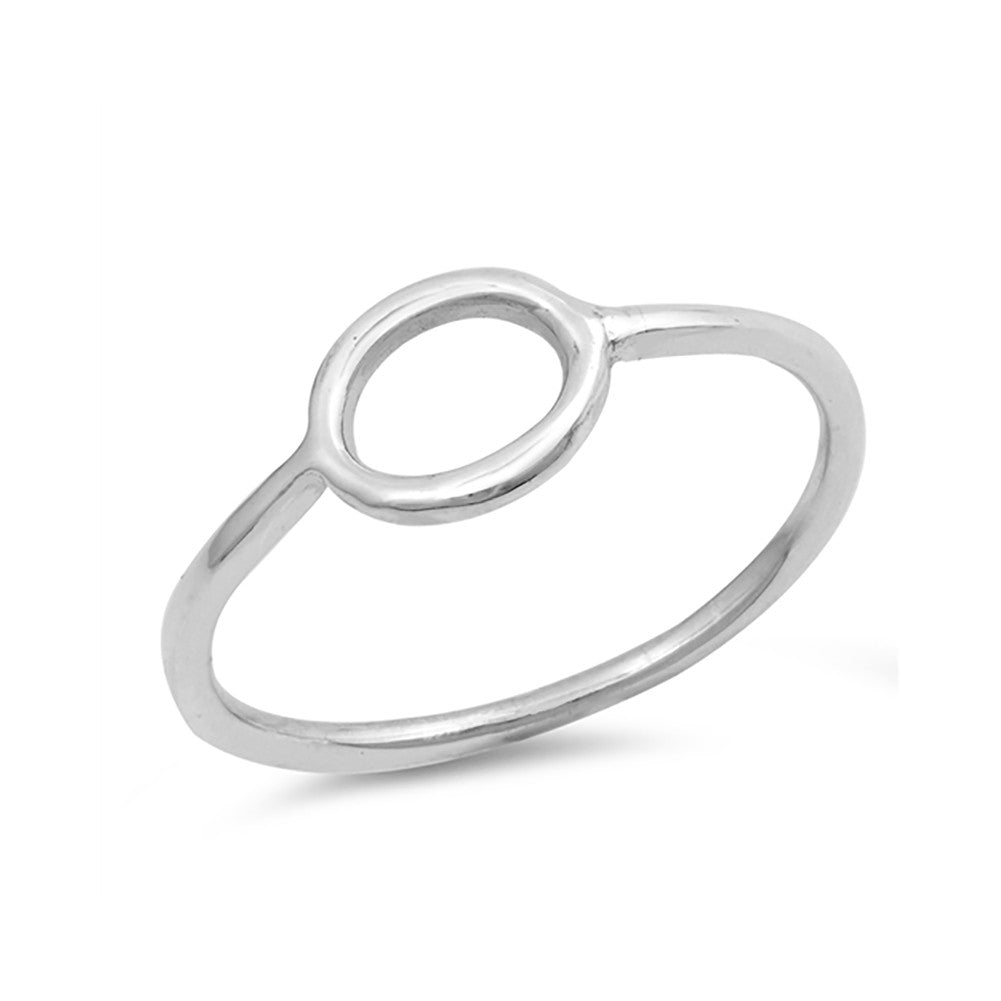Open Ring 925 Sterling Silver Simple Plain Band - Blue Apple Jewelry