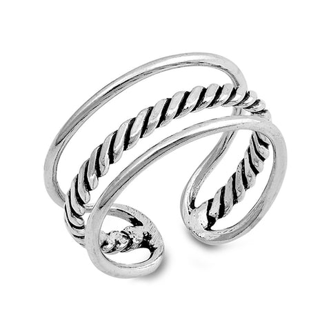 Fashion Split Open Ring Band Bali Design 925 Sterling Silver Simple Plain