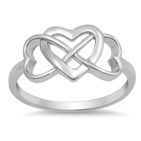 Infinity Heart Ring Band Two-Ton 925 Sterling Silver Choose Color