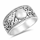 Swirl Band Ring 925 Sterling Silver Choose Color