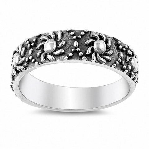 Sun Bali Design Band Ring 925 Sterling Silver Choose Color