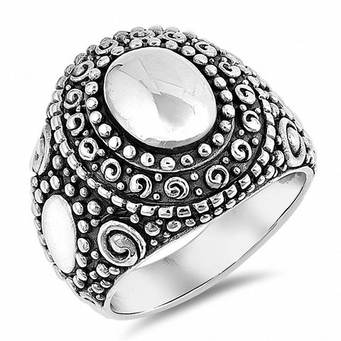 Bali Ring Band 925 Sterling Silver Choose Color