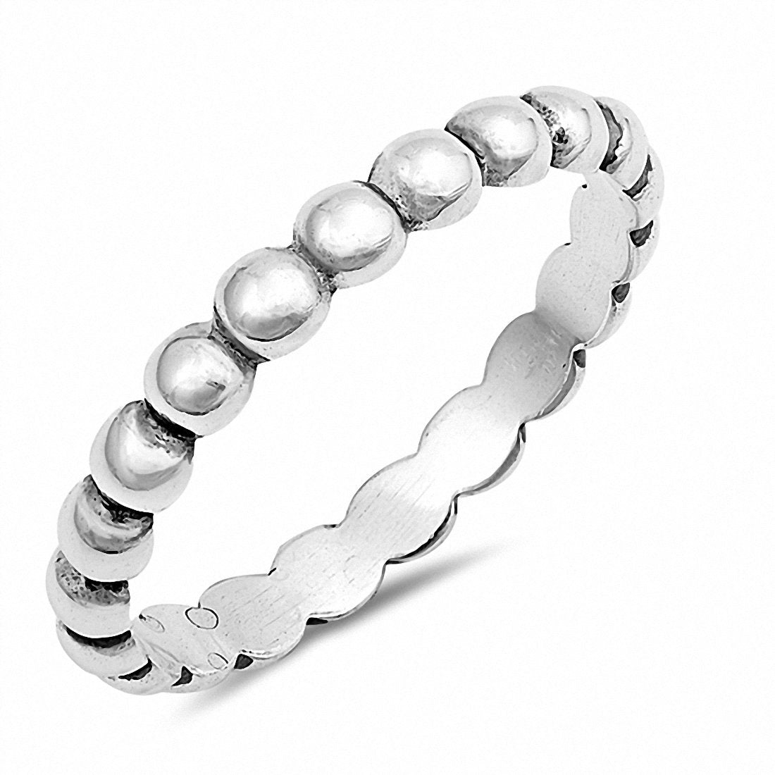 3mm Bead Band Ring 925 Sterling Silver Choose Color
