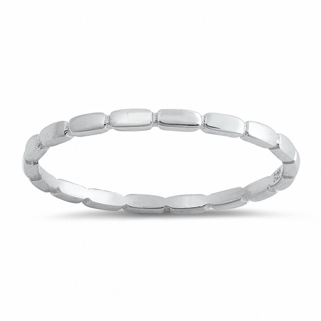 2mm Plain Band 925 Sterling Silver Choose Color
