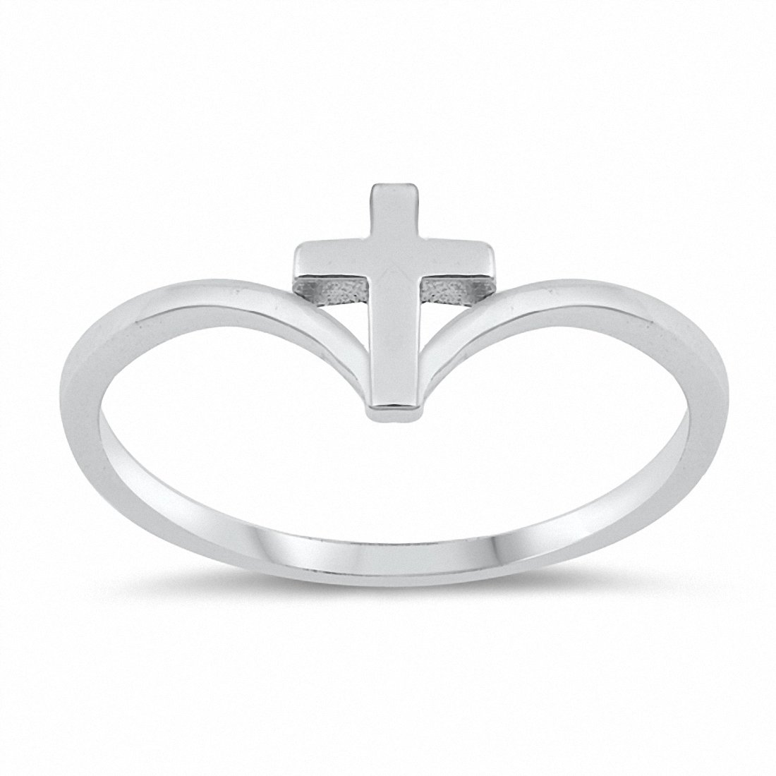 Chevron Midi Cross Thumb Ring Band Solid 925 Sterling Silver Choose Color