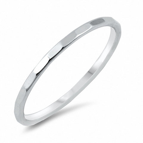 2mm D/C Wedding Band Men Women Unisex Solid 925 Sterling Silver Choose Color