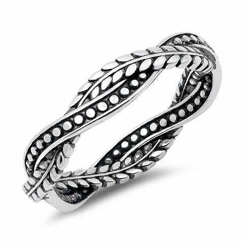 4mm Men Women Braided Wedding Band Solid 925 Sterling Silver Choose Color