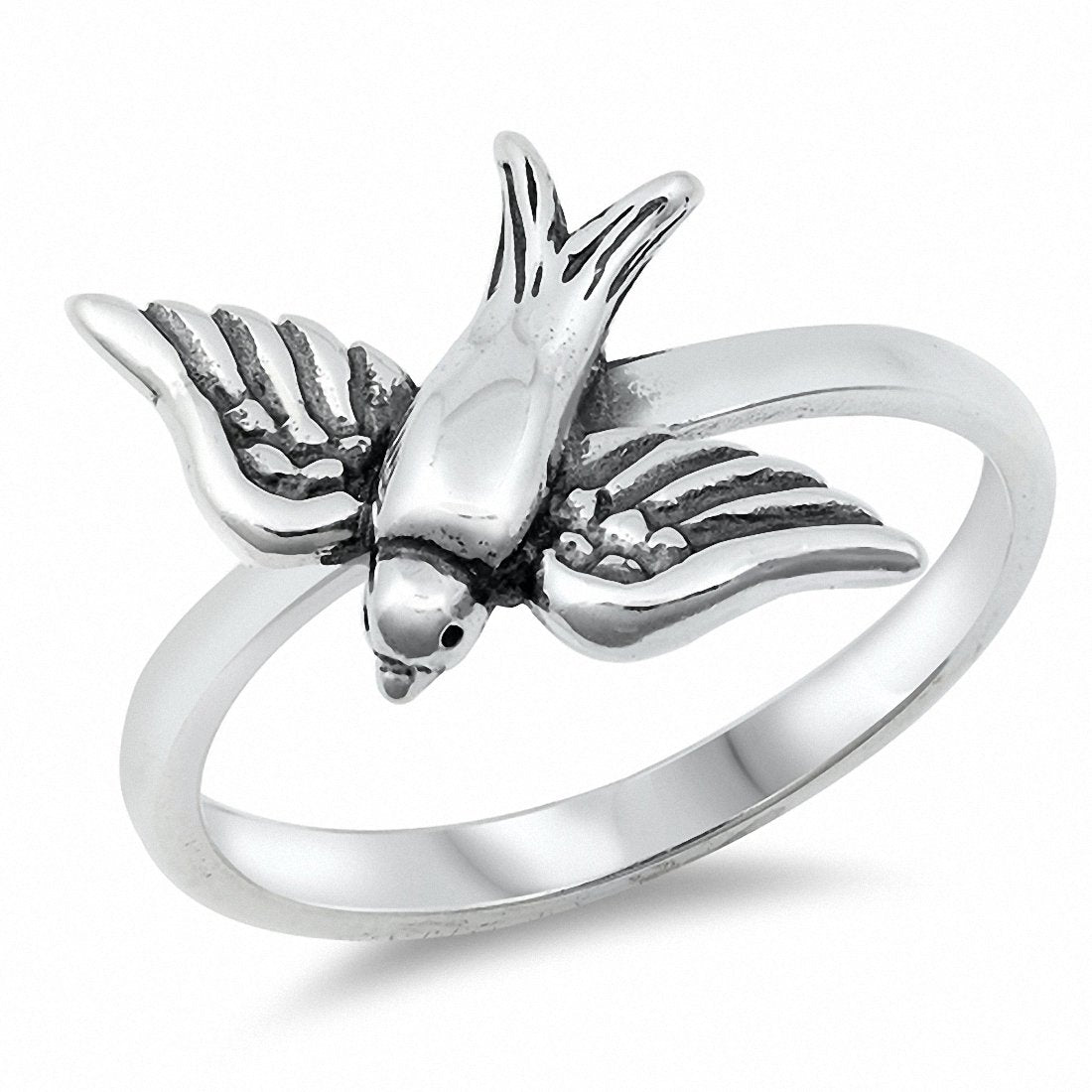Sparrow Band Ring 925 Sterling Silver Choose Color
