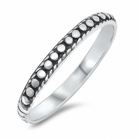 3mm Oxidized Bali Band Ring Solid 925 Sterling Silver Choose Color