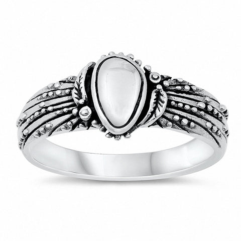Bali Ring Band Oxidized Solid 925 Sterling Silver Choose Color