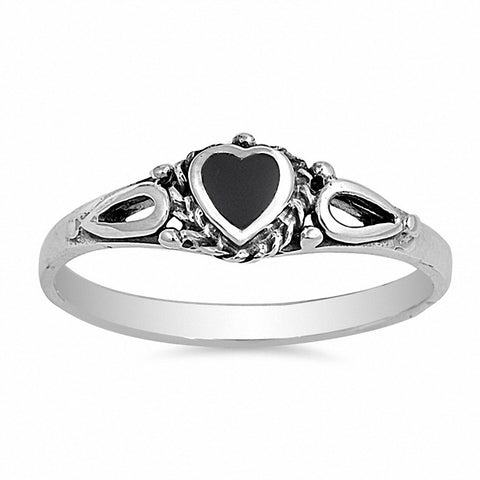 Heart Promise Valentines Gift Ring Simulated Stone Solid 925 Sterling Silver Choose Color