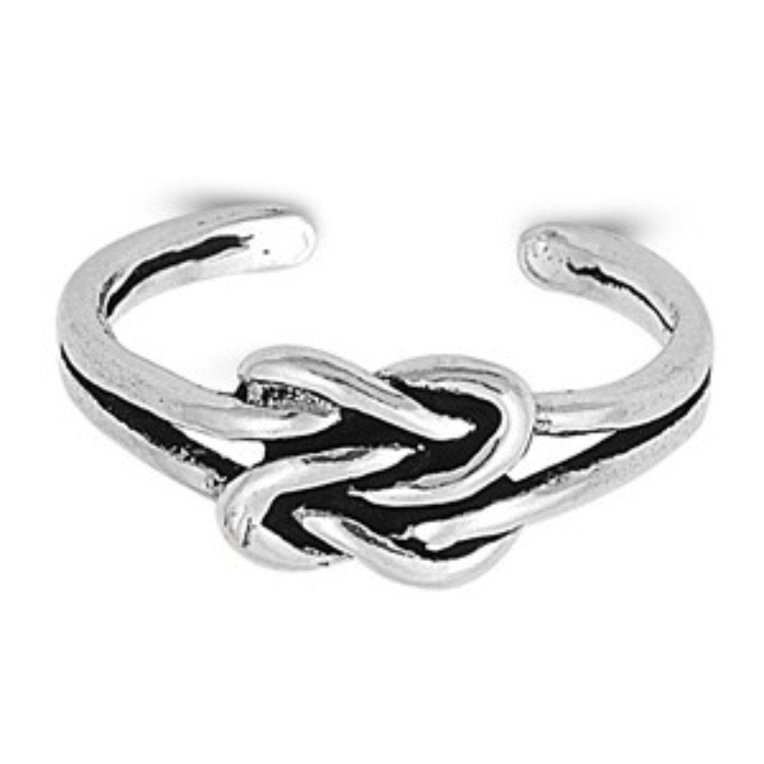 Adjustable Silver Toe Ring Band 925 Sterling Silver (6mm)