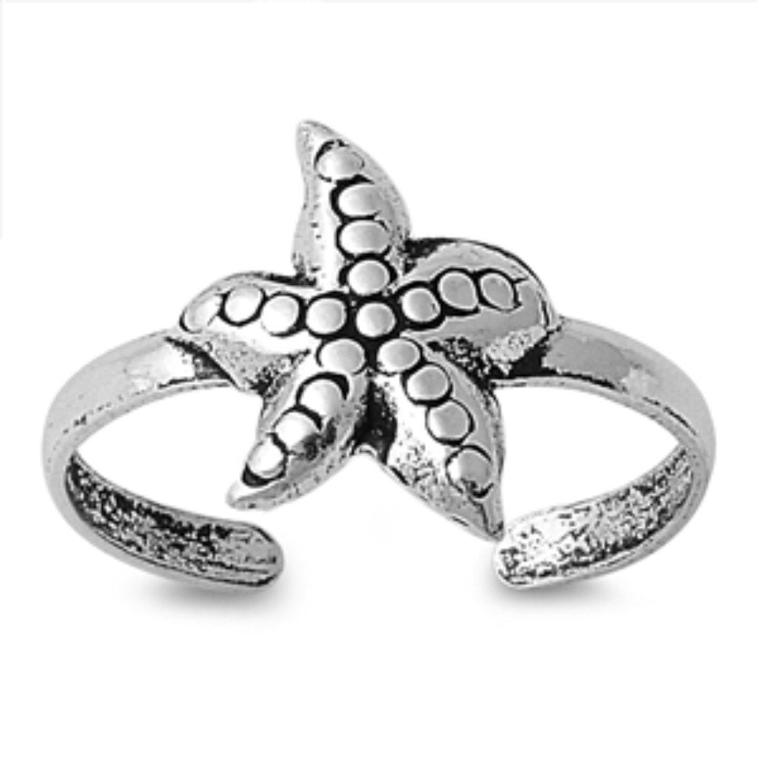 Toe Ring Starfish Silver Toe Ring 925 Sterling Silver (10mm)