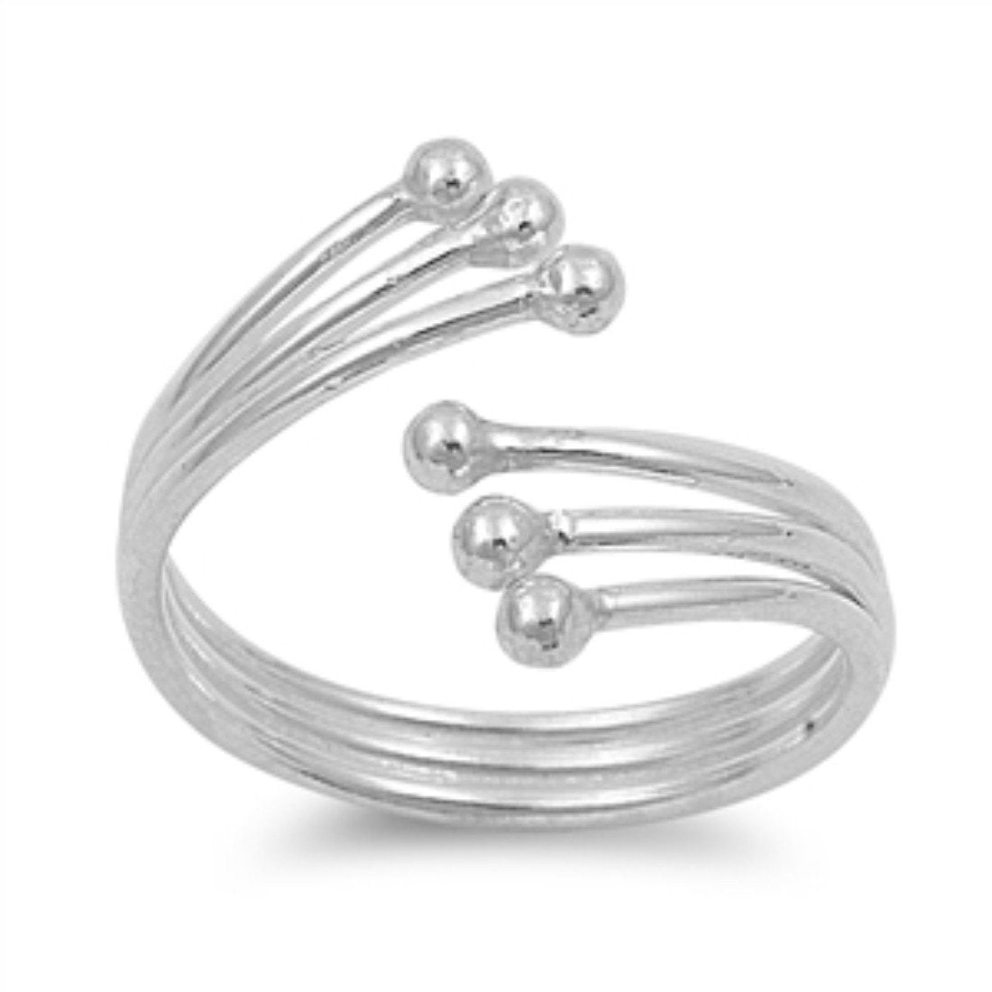 Silver Toe Ring Adjustable Band 925 Sterling Silver (11mm)