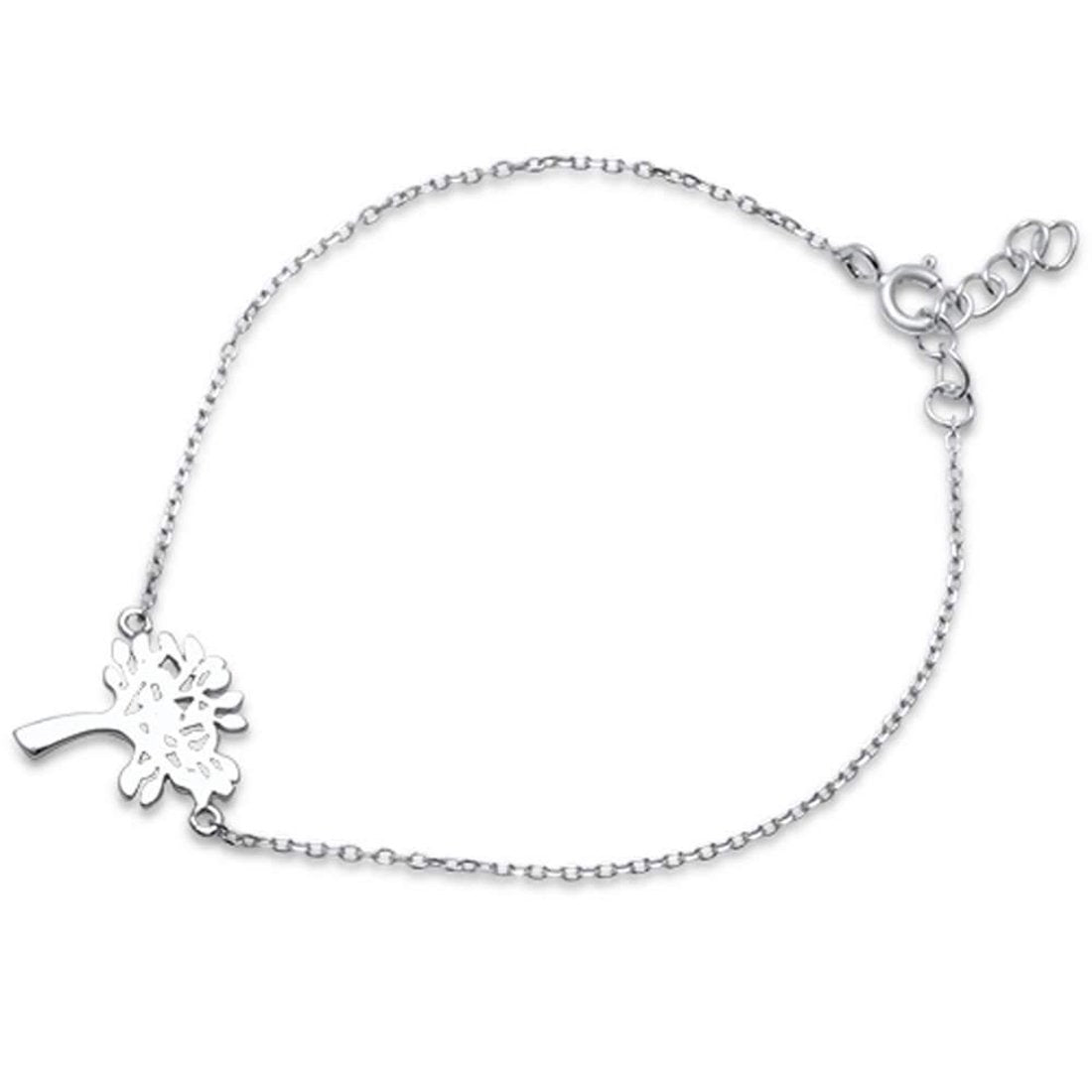 "Fashion Tree Bracelet 925 Sterling Silver 6""+1"" Extension"