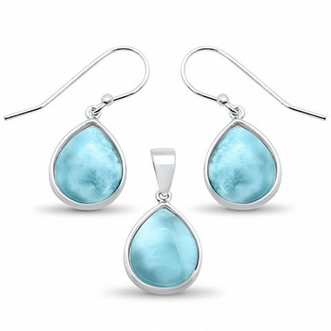 Jewelry Teardrop Pear Shape Set Created Opal 925 Sterling Silver Choose Color