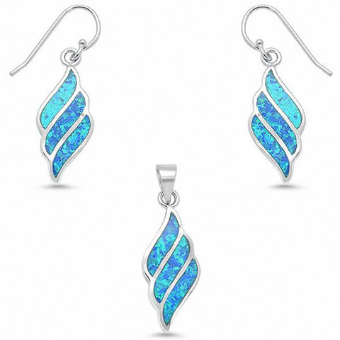 Swirl Jewelry Set Fashion Created Opal 925 Sterling Silver Choose Color
