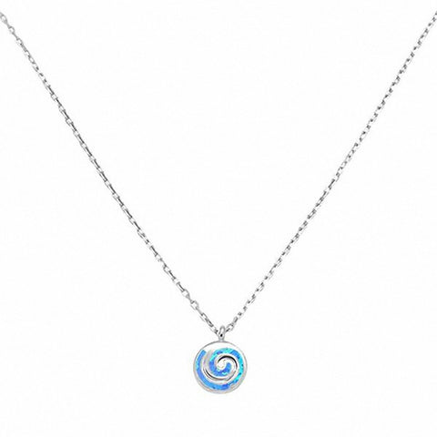 Spiral Necklace Pendant 925 Sterling Silver Swirl Choose Color