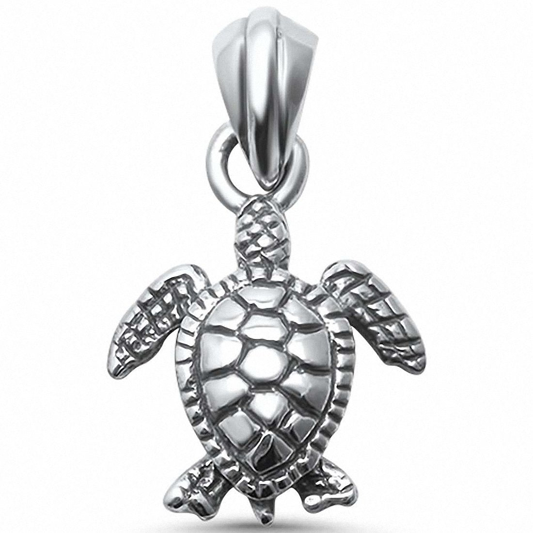 Turtle Charm Pendant 925 Sterling Silver Choose Color