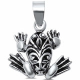 Frog Pendant Charm 925 Sterling Silver Choose Color
