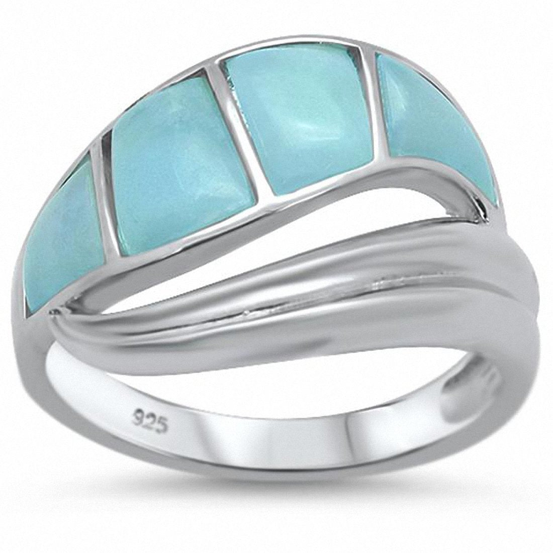 Fashion New Design Wave Ring 925 Sterling Silver Choose Color