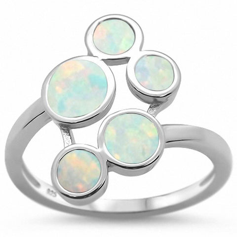Animal Paw Design Ring Created Blue Opal 925 Sterling Silver Choose Color