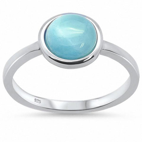 Solitaire Ring Round Bezel Inlay Lab Created Opal 925 Sterling Silver Choose Color