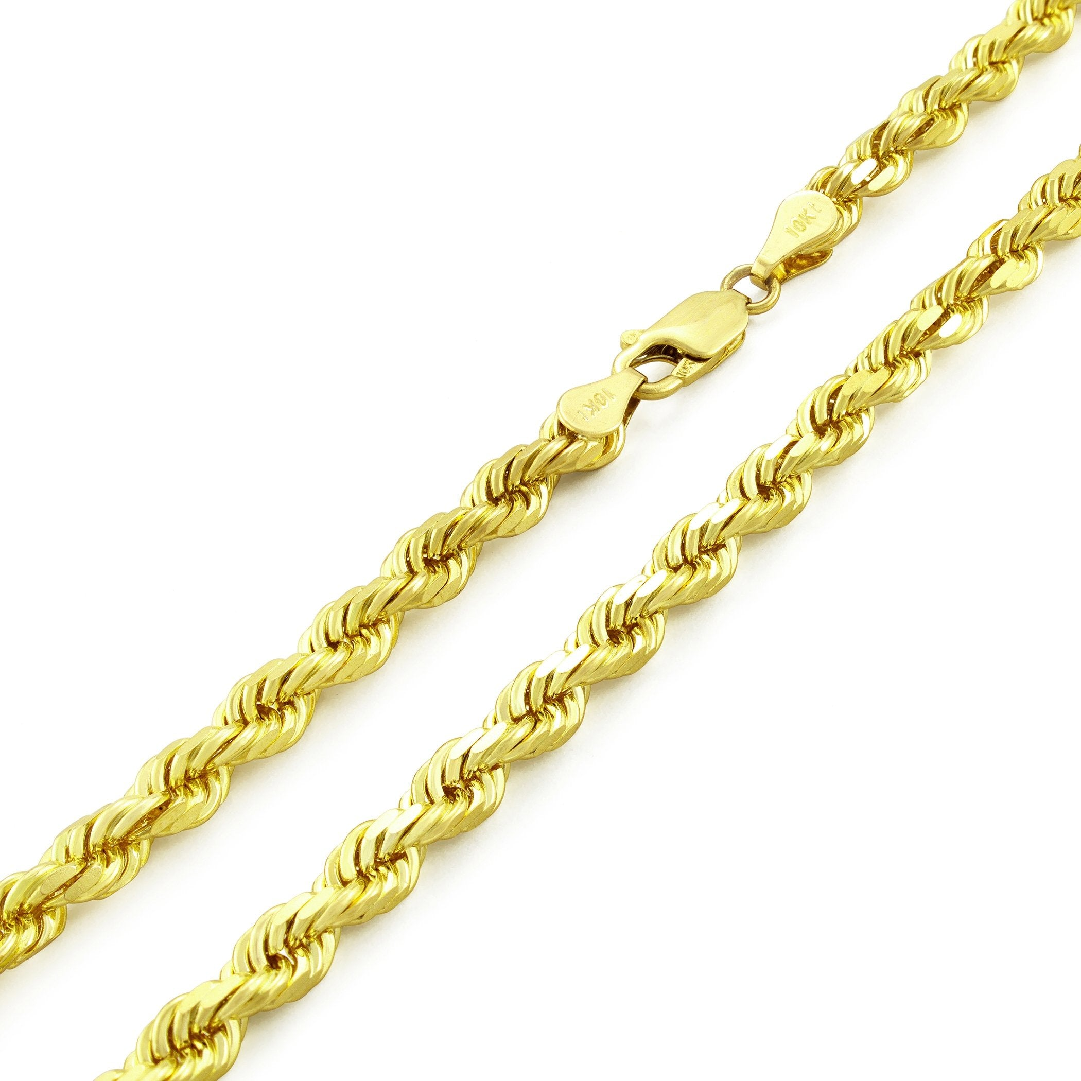 "1.2MM Loose Rope Yellow Gold Chain .925 Solid Sterling Silver Length ""16-20"""