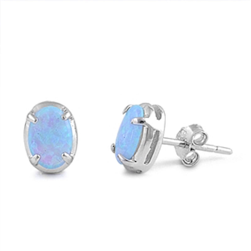 stud light blue earring square