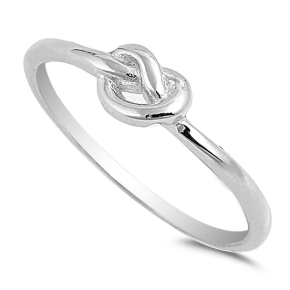 Love Knot Promise Ring Sterling Silver 925
