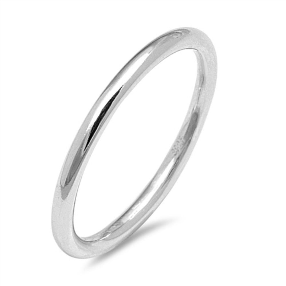 Silver Toe Ring Simple plain Toe Ring 2mm Solid 925 Sterling Silver Toe Simple Plain Her Ladies Jewelry Toe Ring