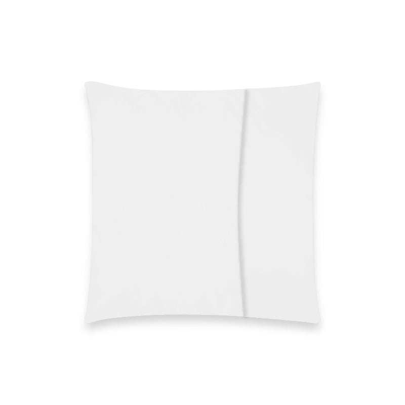 "Throw Pillow Cover 18""x 18""(One Side)(No Zipper)"