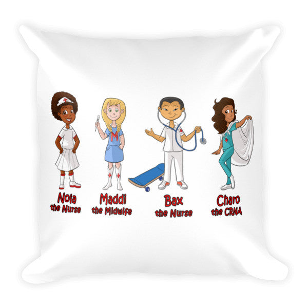 Nola The Nurse & Friends Pillow