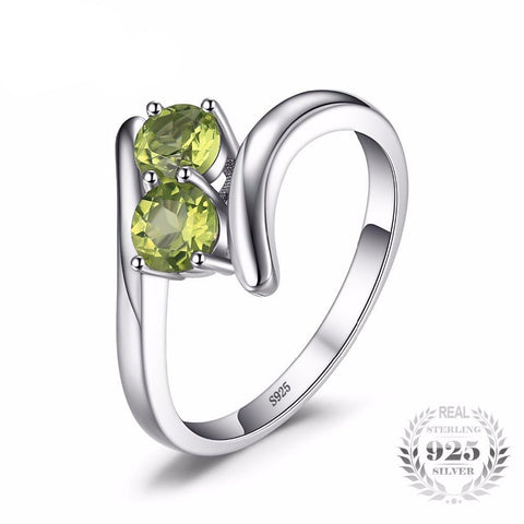 686f9c7d35a06 Natural Peridot 2 Stone Ring - 925 Sterling Silver – Adorable Stock