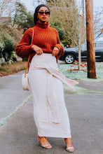 Beige Wrap Maxi Skirt
