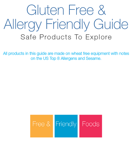 Gluten Free, Allergy Friendly Product Guide