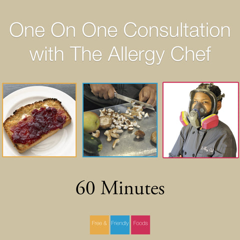 60 Minute Consultation with The Allergy Chef