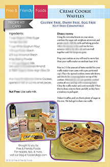 Kit Card - Creme Cooke Waffles & Strawberry Waffles