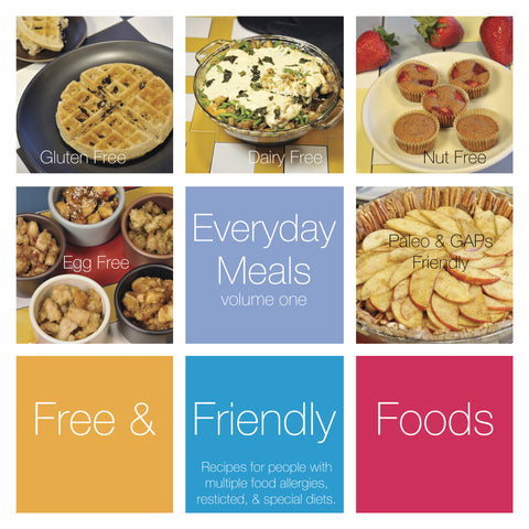 Print book everyday meals volume one free and friendly foods everyday meals volume one cover forumfinder Images