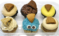 Mini Cupcake 6 Pack - Cookie Monster Pack