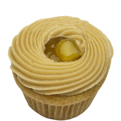 Gluten Free, Vegan, Top 8 Allergy Free Sun Butter & Mango Jelly Cupcake
