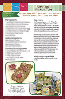 Digital Holiday Kit Card - Cranberry French Toast