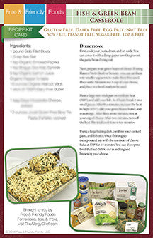 Digital Holiday Kit Card - Fish & Green Bean Casserole